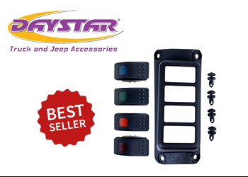Daystar A-Pillar Switch Pod Black - JK