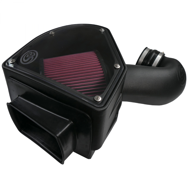 S&B Filter 75-5090 Cold Air Intake For 94-02 Dodge Ram 2500 3500 5.9L Cummins Cotton Cleanable Red
