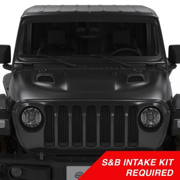 S&B Filters Air Hood Scoop System   - JT/JL Rubicon 3.6L and 2.0L