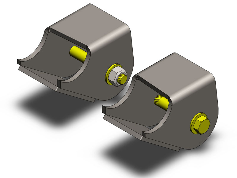 Clayton Heavy Duty Front Lower Control Arm Brackets - TJ/LJ/XJ/ZJ