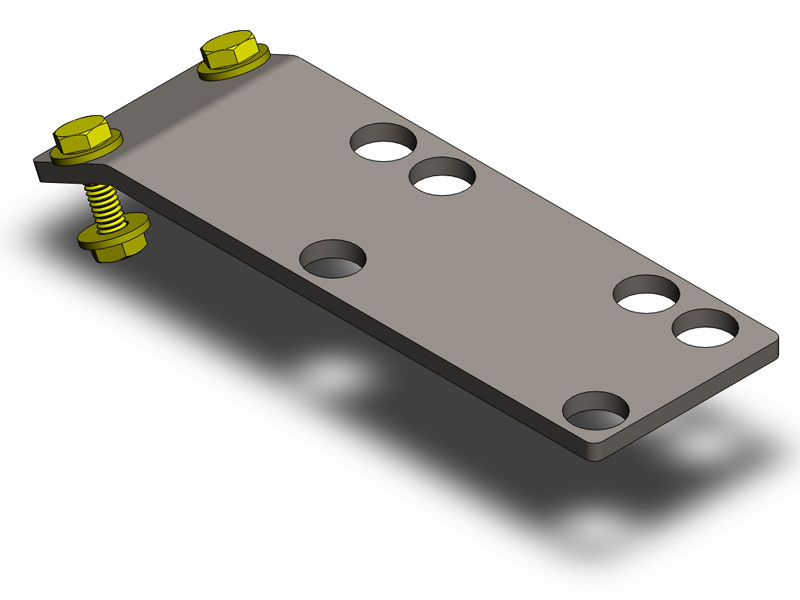 Clayton Rubicon Compressor Skid Plate Mount  - TJ 97-06 / LJ 04-06