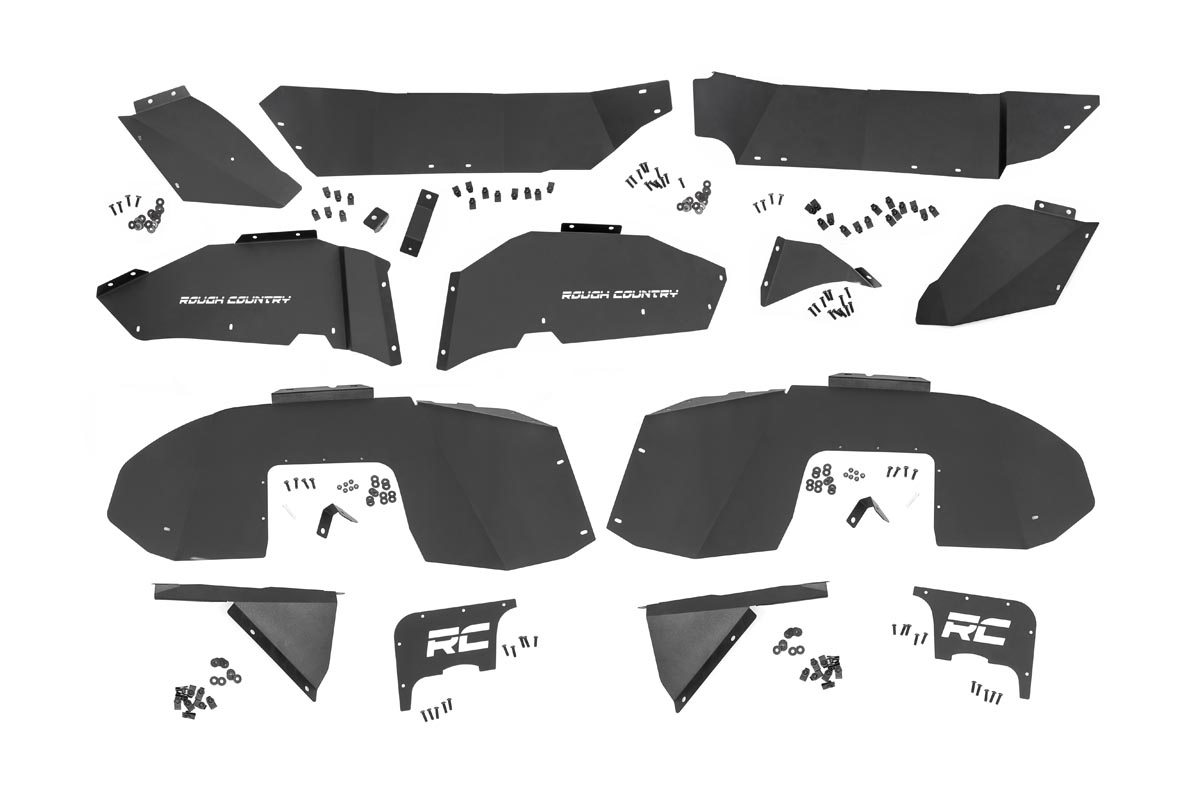 Rough Country Inner Fenders Set, Front & Rear - JL