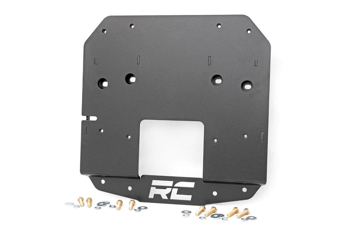 Rough Country Spare Tire Relocation Plate  - JL w/out Proximity Sensors