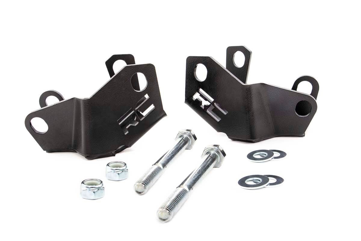 Rough Country Lower Control Arm Skid Plates - Rear - JL