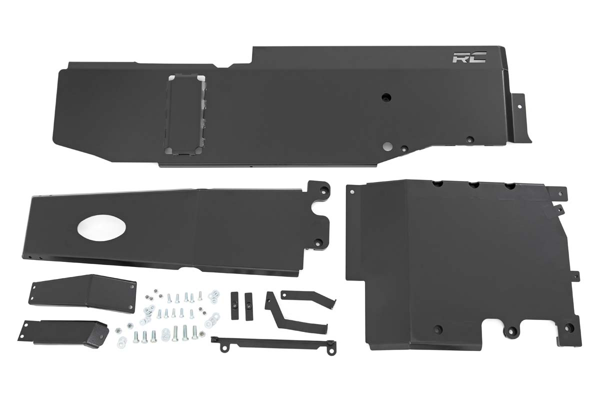 Rough Country Engine, Transfer Case and Gas Tank Skid Plate System  - JL 4Dr 3.6L
