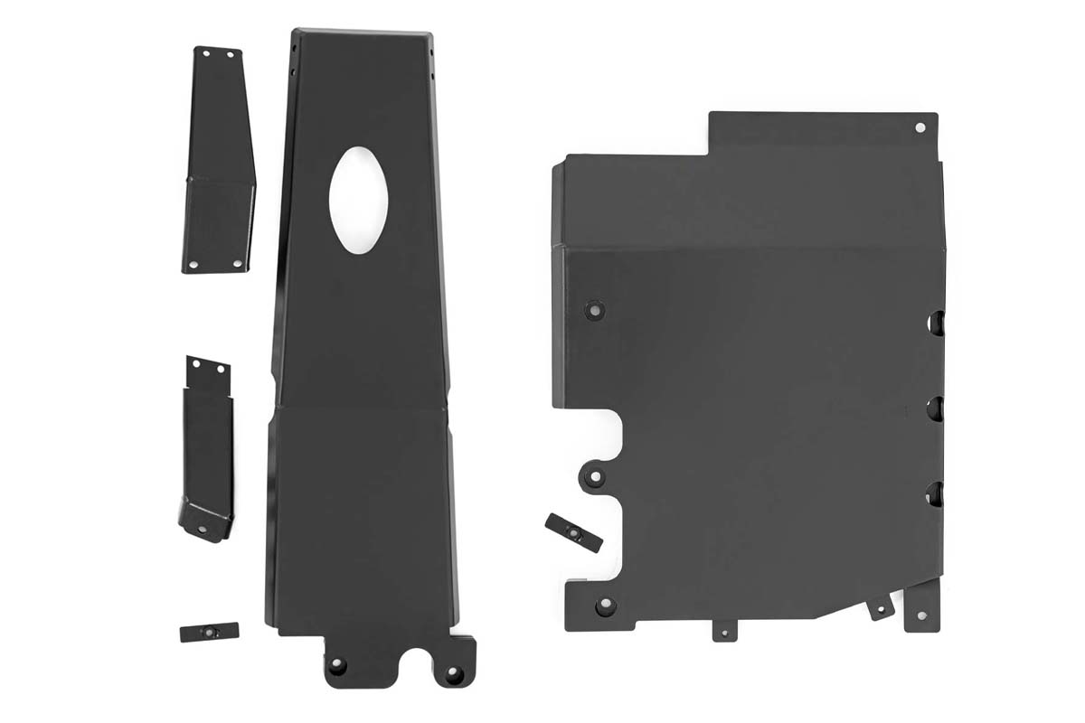 Rough Country Engine and Transfer Case Skid Plate System - JL 4Dr 3.6L