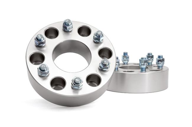 Rough Country 2in Aluminum Wheel Spacers, Pair - GM