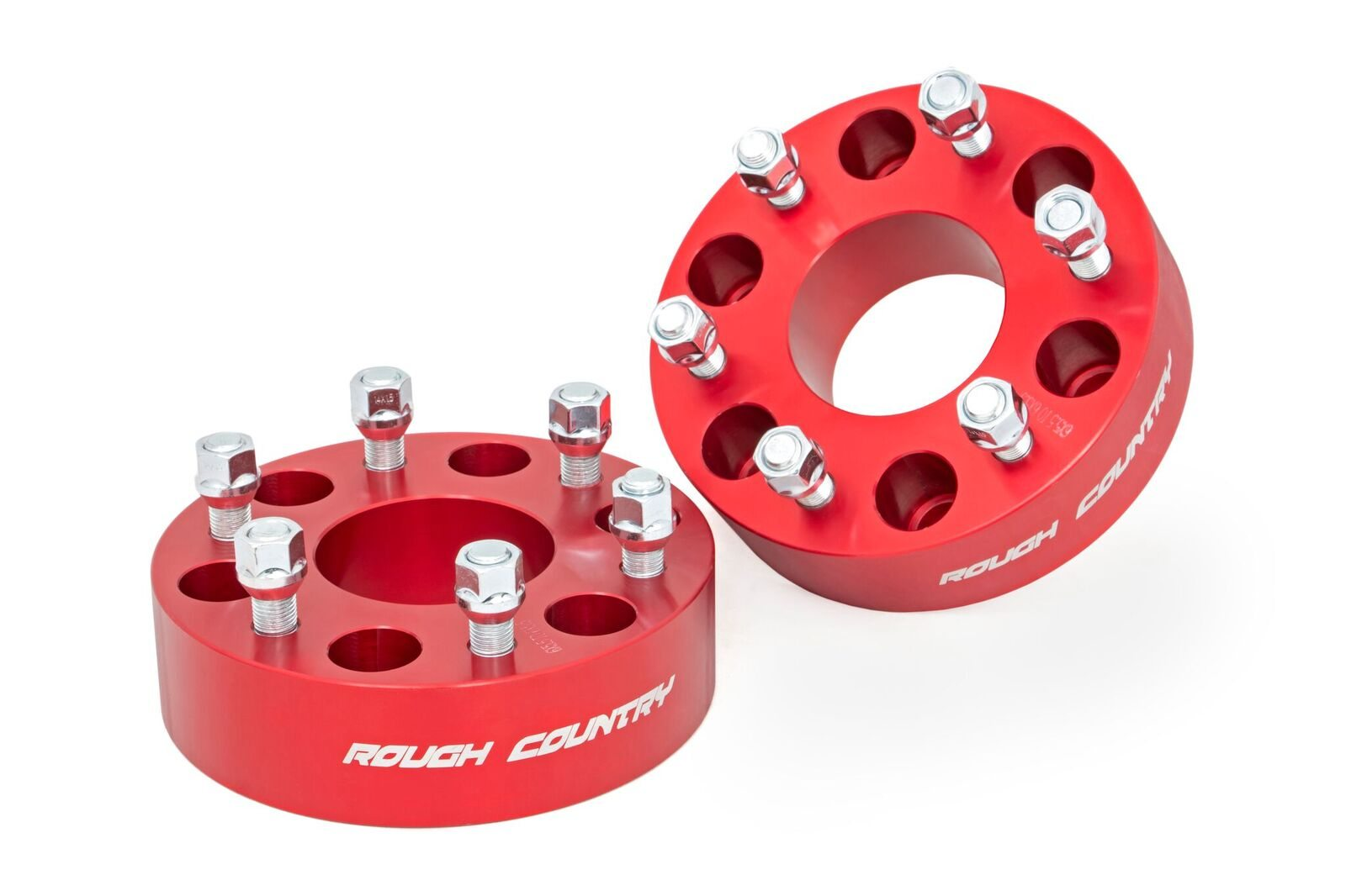 Rough Country 2in Red Wheel Spacers, Pair - GM