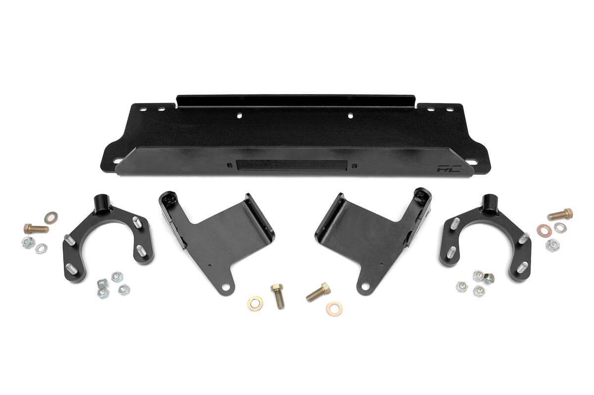 Rough Country Factory Bumper Winch Mounting Plate - JK