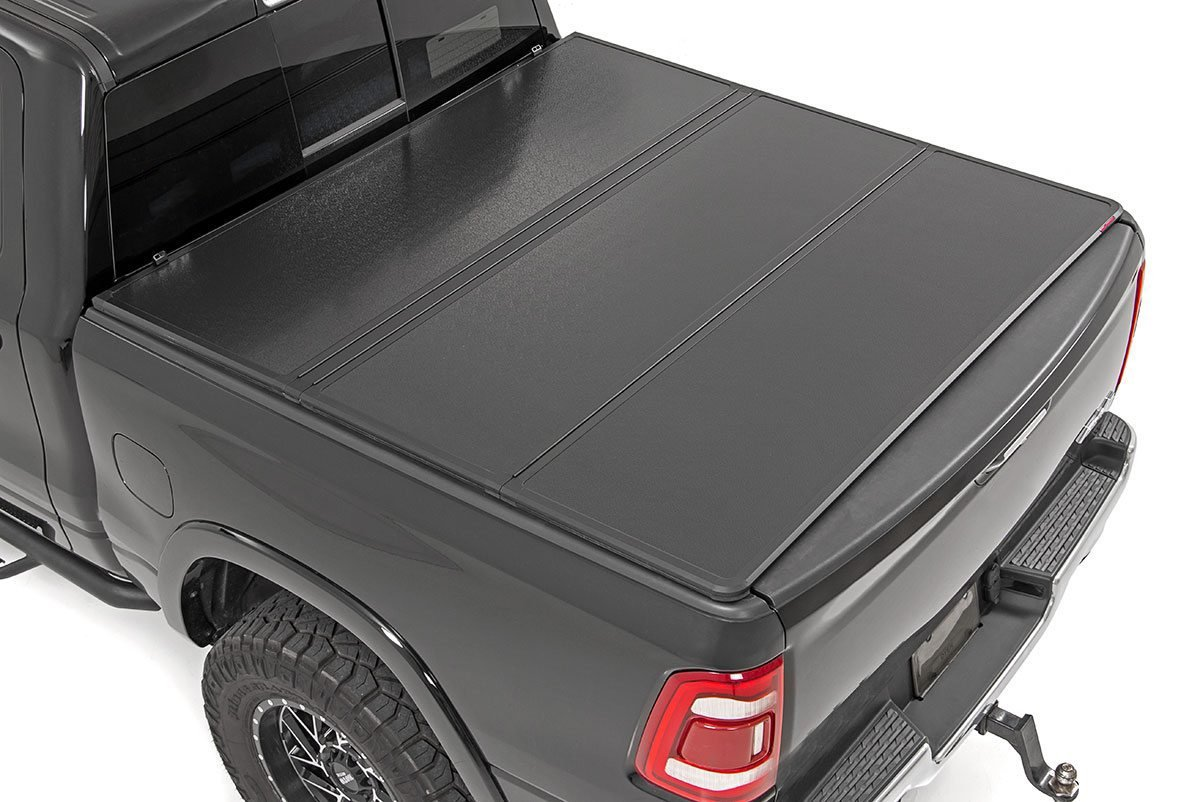 Rough Country Hard Tri-Fold Bed Cover, 5x5 Bed - Toyota 2014-21