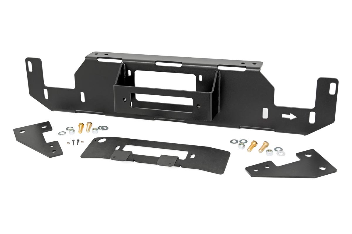 Rough Country Hidden Winch Mounting Plate - F-150 V8 2015-20