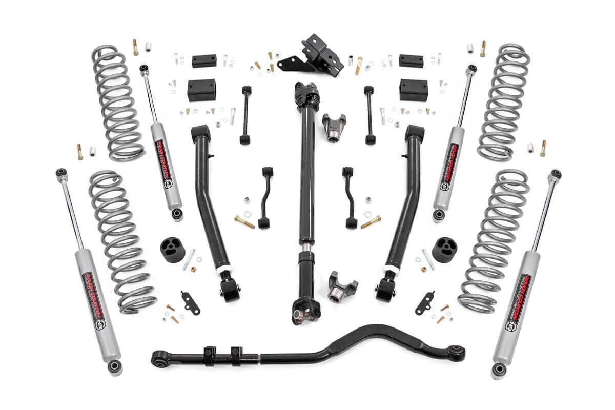Rough Country 3.5in Stage 2 Suspension Lift Kit w/ N3 Shocks - JL 2Dr Non-Rubicon