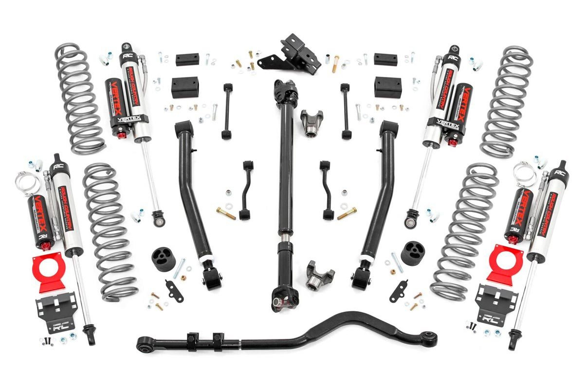 Rough Country 3.5in Stage 2 Suspension Lift Kit w/ Vertex Shocks - JL 2Dr Non-Rubicon
