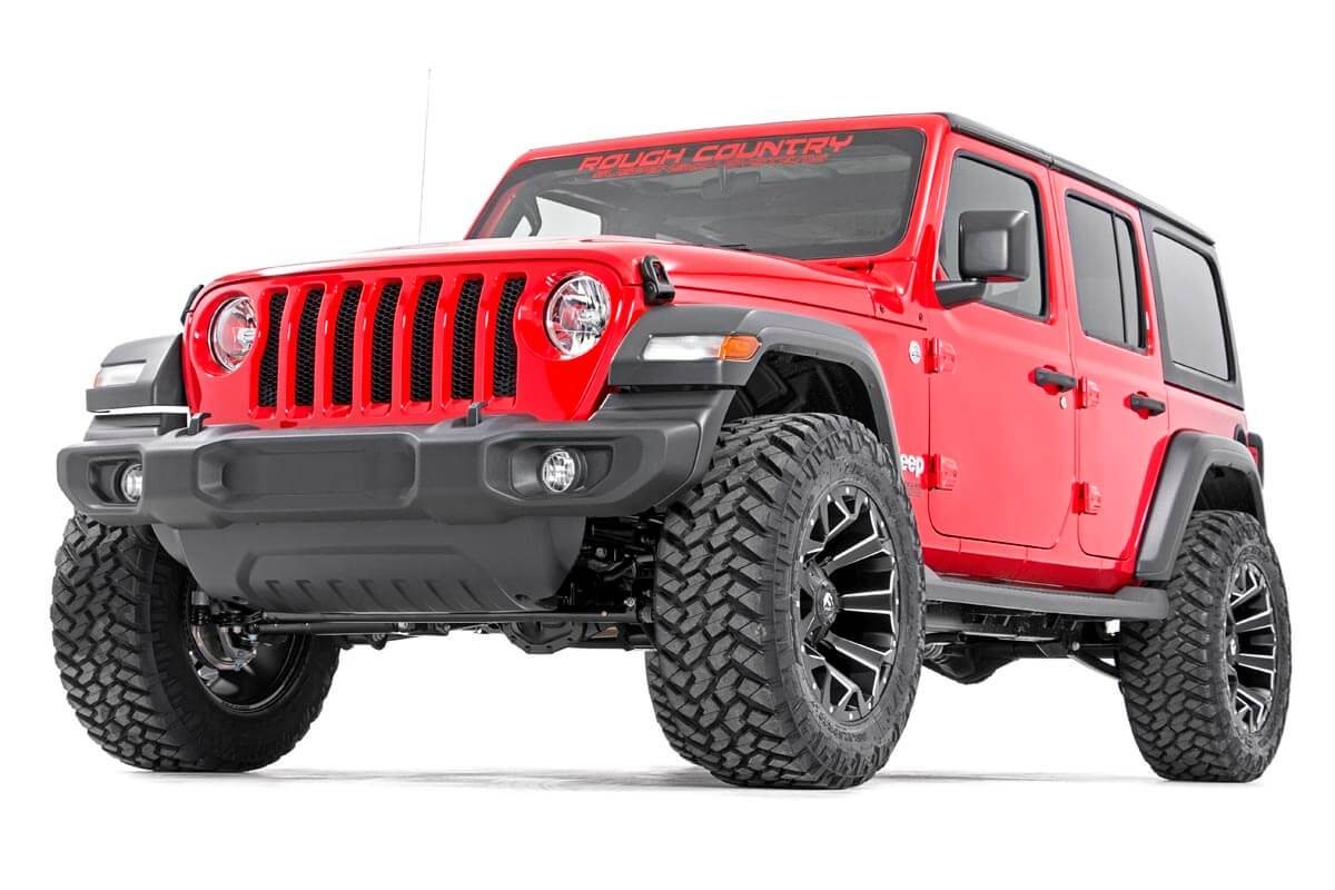 Rough Country 2.5in Suspension Lift Kit w/ V2 Shocks - JL 4dr Non-Rubicon