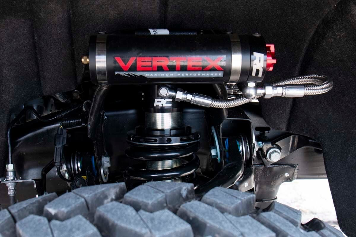 Rough Country Front Adjustable Vertex Coilovers - Silverado/Sierra 1500 for 6.25-7.5in Lifts 2007-18