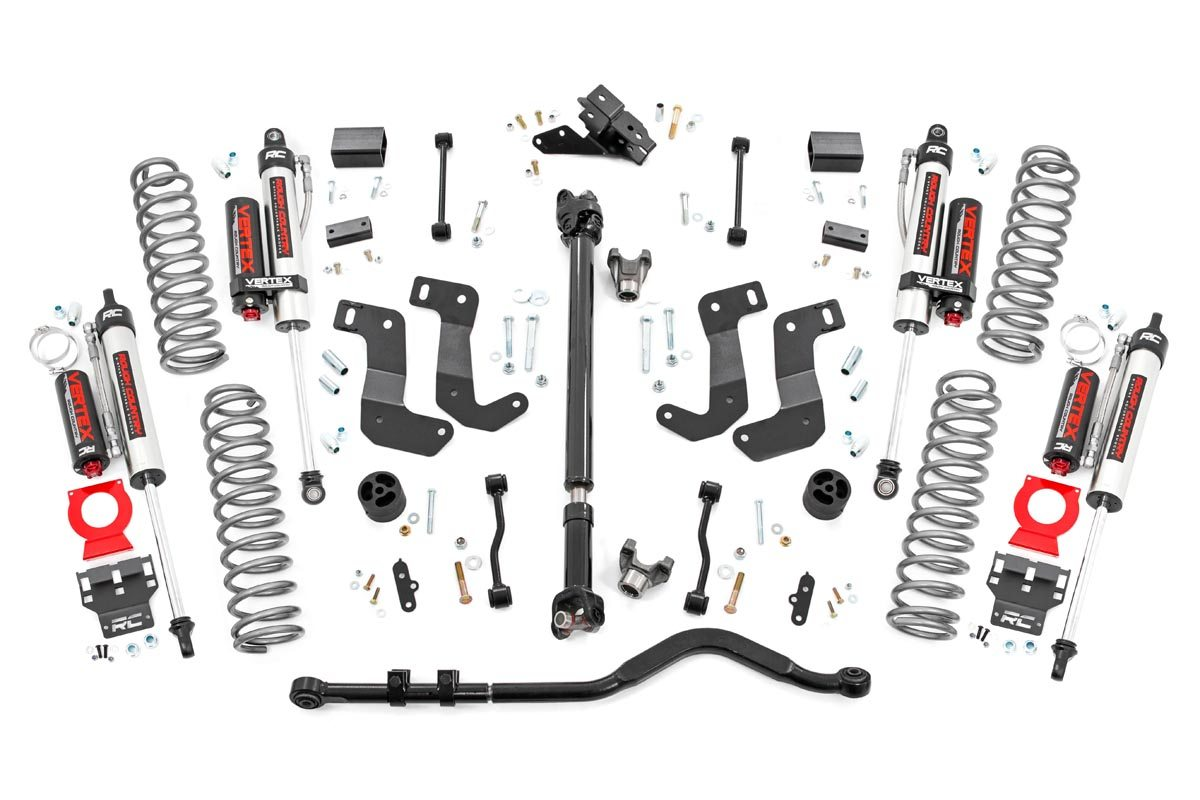 Rough Country 3.5in Stage 2 Suspension Lift Kit w/ Vertex Shocks - JL 4Dr Rubicon