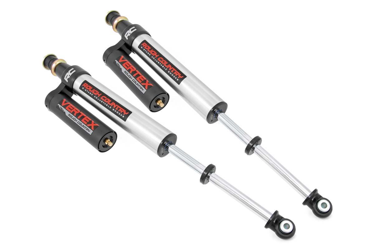 Rough Country Rear Adjustable Vertex Shocks for 6in Lifts- Toyota Tundra 2007-21