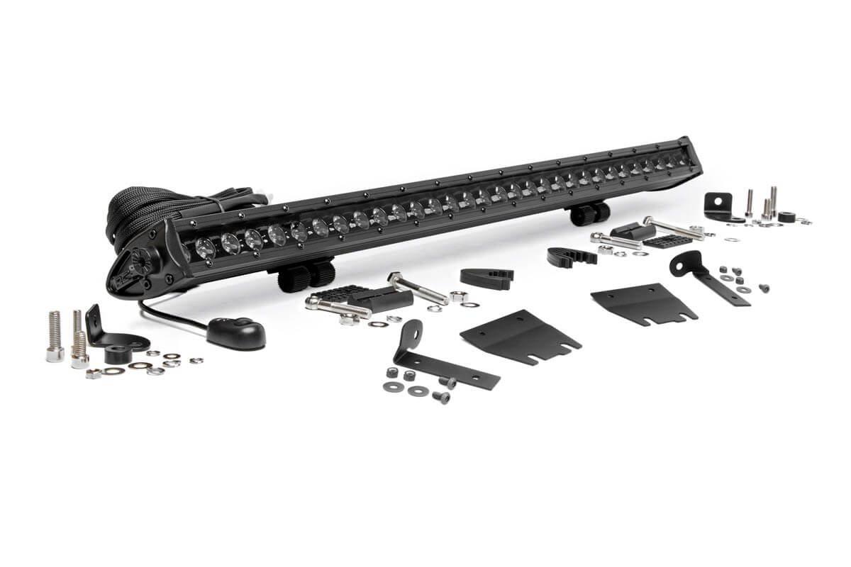 Rough Country 30-inch LED Hood Kit, Black Series - JL