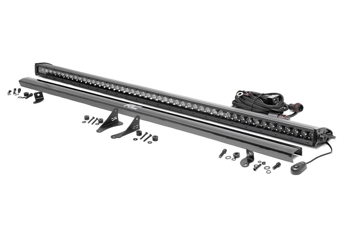 Rough Country 50in LED Light Bar Cowl Kit, Black Series - JT/JL