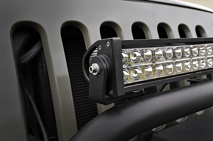 Rough Country 20in LED Light Bar Bumper Hoop Mounting Brackets - JK