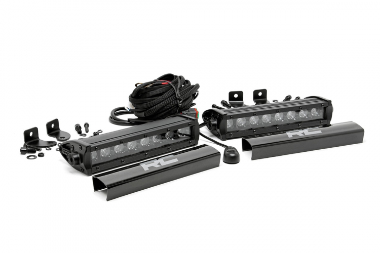 Rough Country 8in Black Series Single Row Light Bars