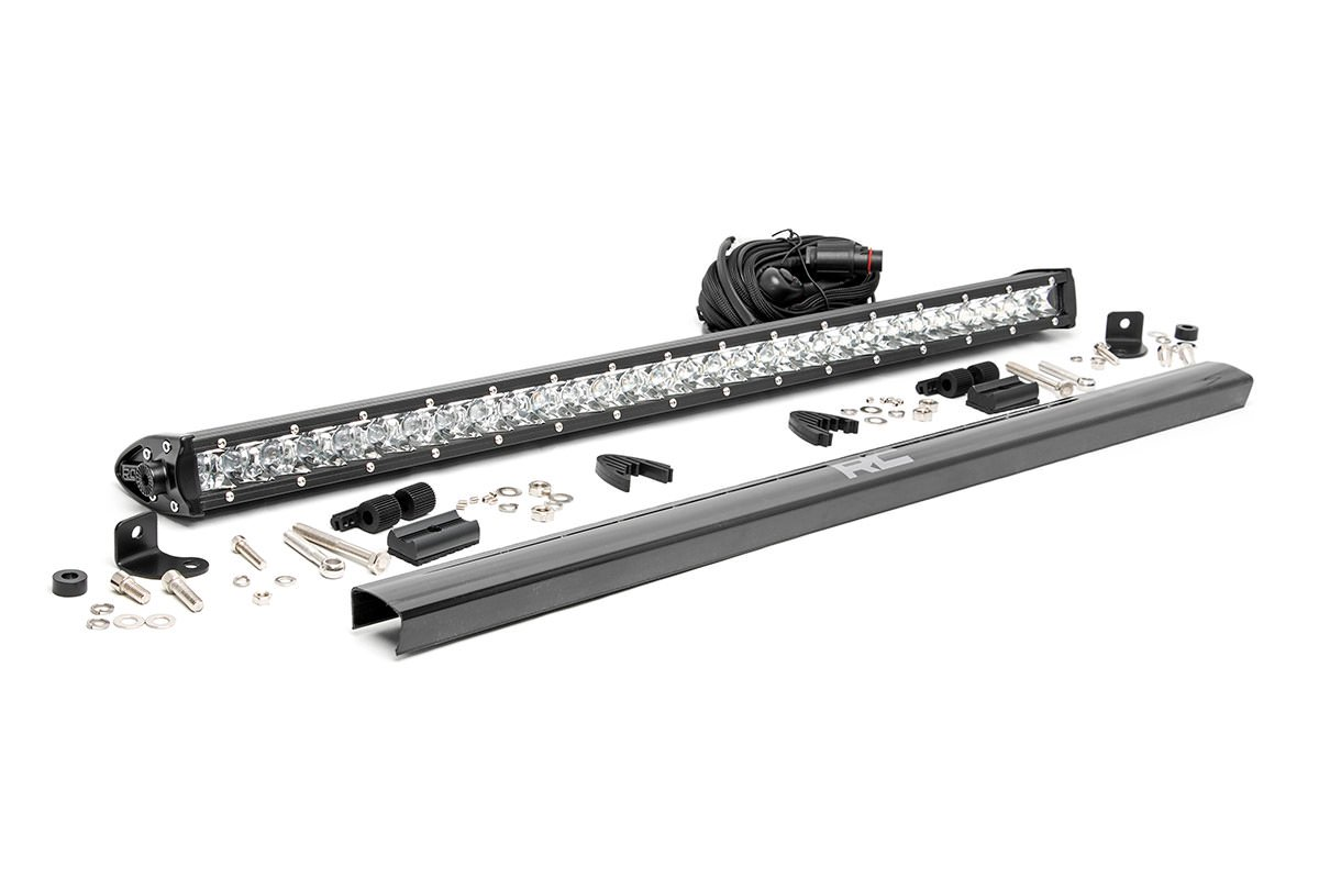 Rough Country 30in Chrome Series Single Row Light Bar
