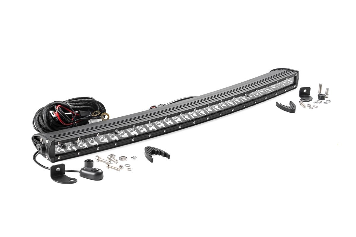 Rough Country 30in Chrome Series Single Row Curved Light Bar