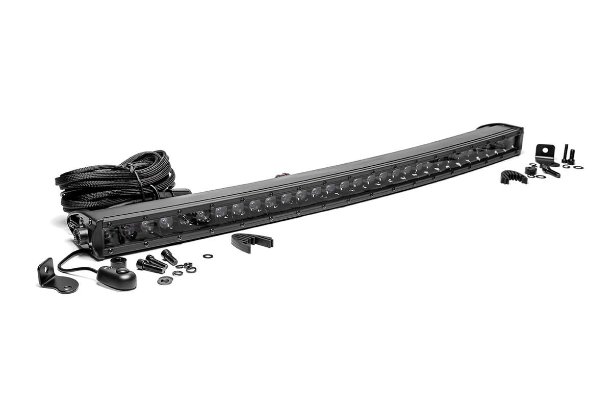 Rough Country 30in Black Series Single Row Curved Light Bar
