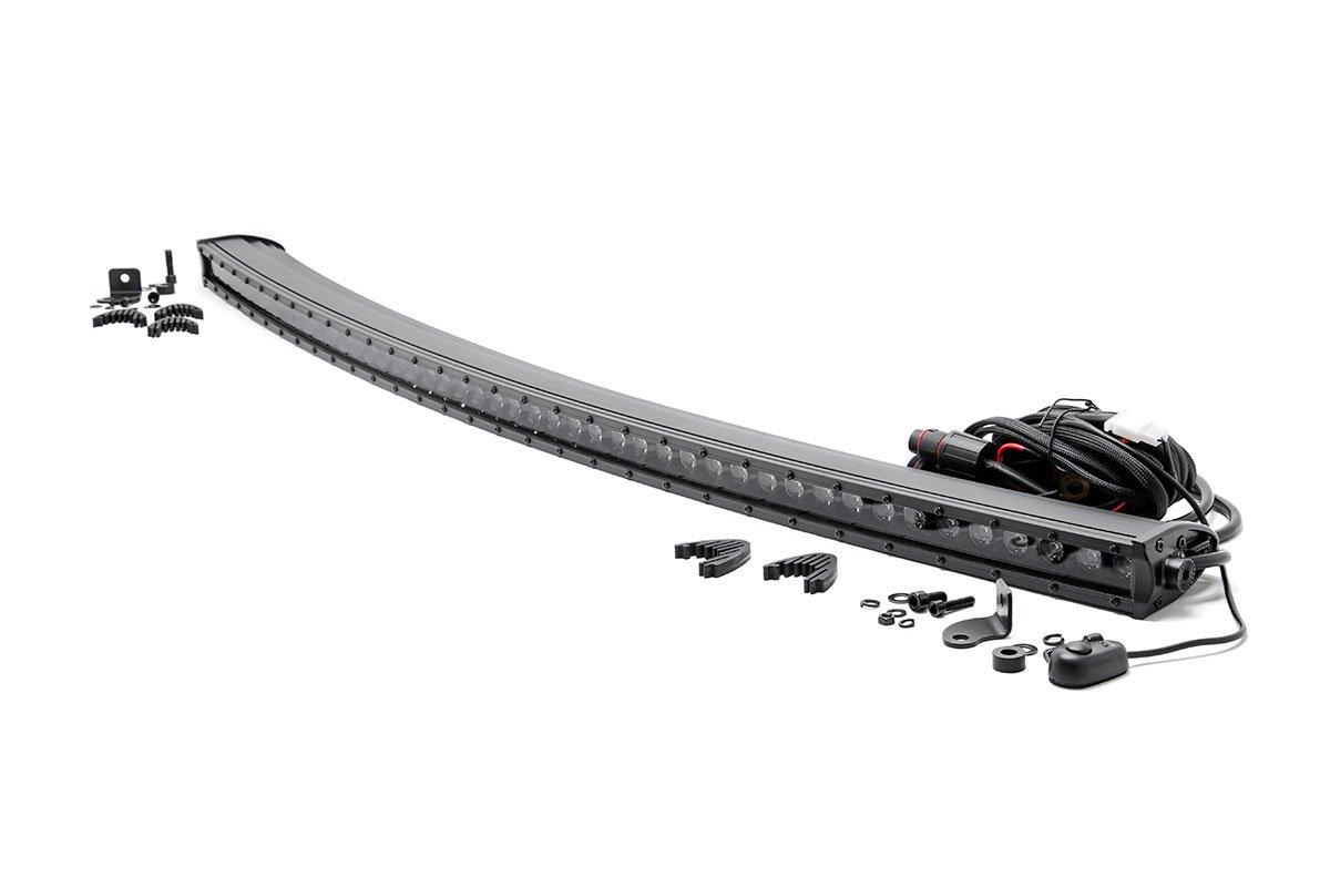 Rough Country 50in Black Series Single Row Curved Light Bar
