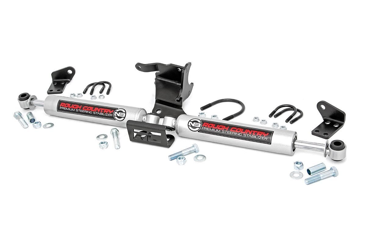 Rough Country N3 Dual Steering Stabilizer Kit - JT/JL
