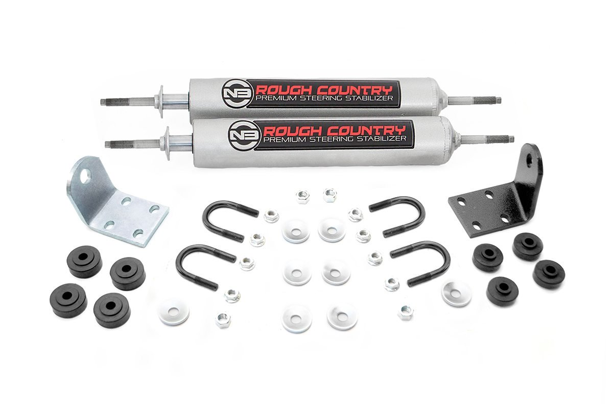 Rough Country Dual Steering Stabilizer - Ford Bronco/F-100/F-150 77-79