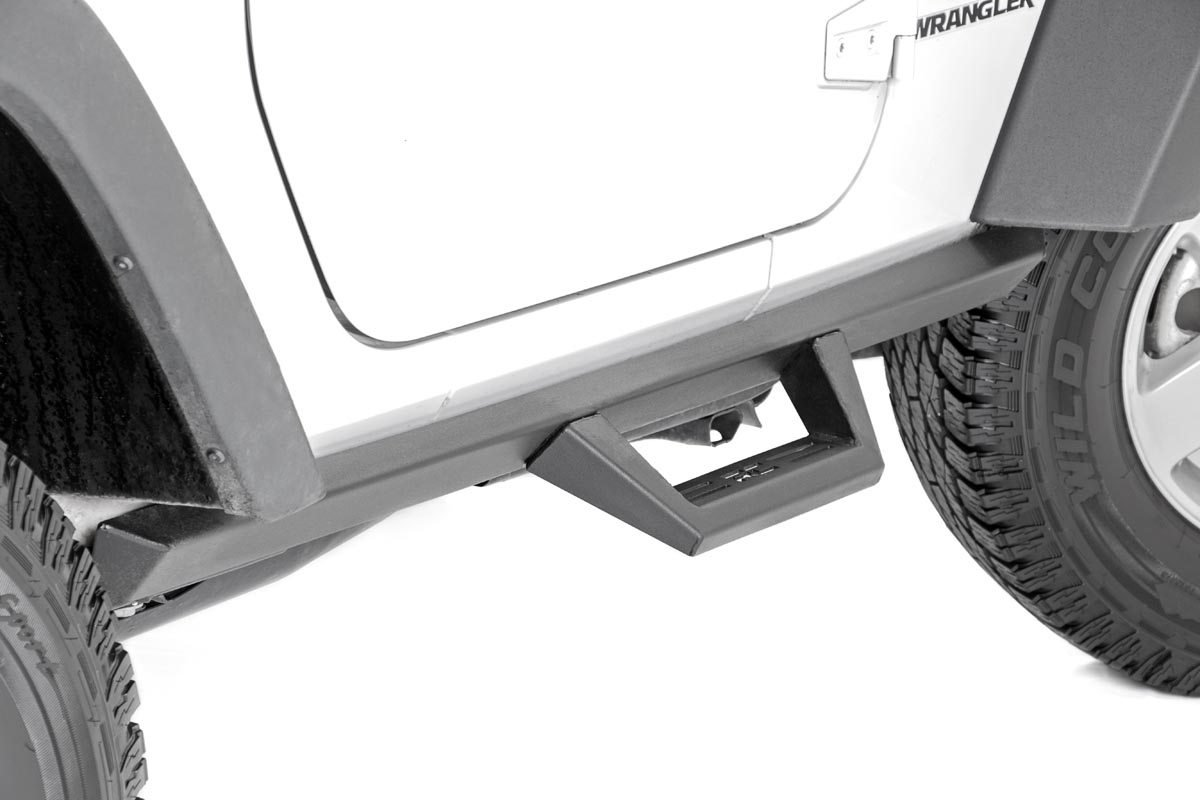 Rough Country Jeep Wheel to Wheel Fabricated Steps - JK 2dr