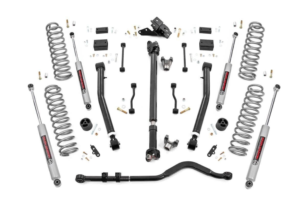 Rough Country 3.5in Stage 2 Suspension Lift Kit w/ N3 Shocks - JL 2Dr Rubicon