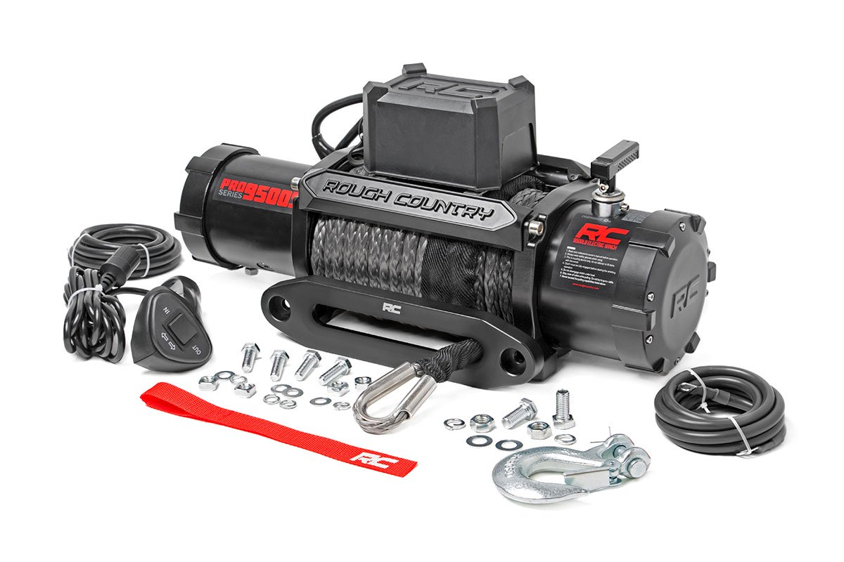 Rough Country 9500lbs PRO Series Winch w/ Synthetic Rope