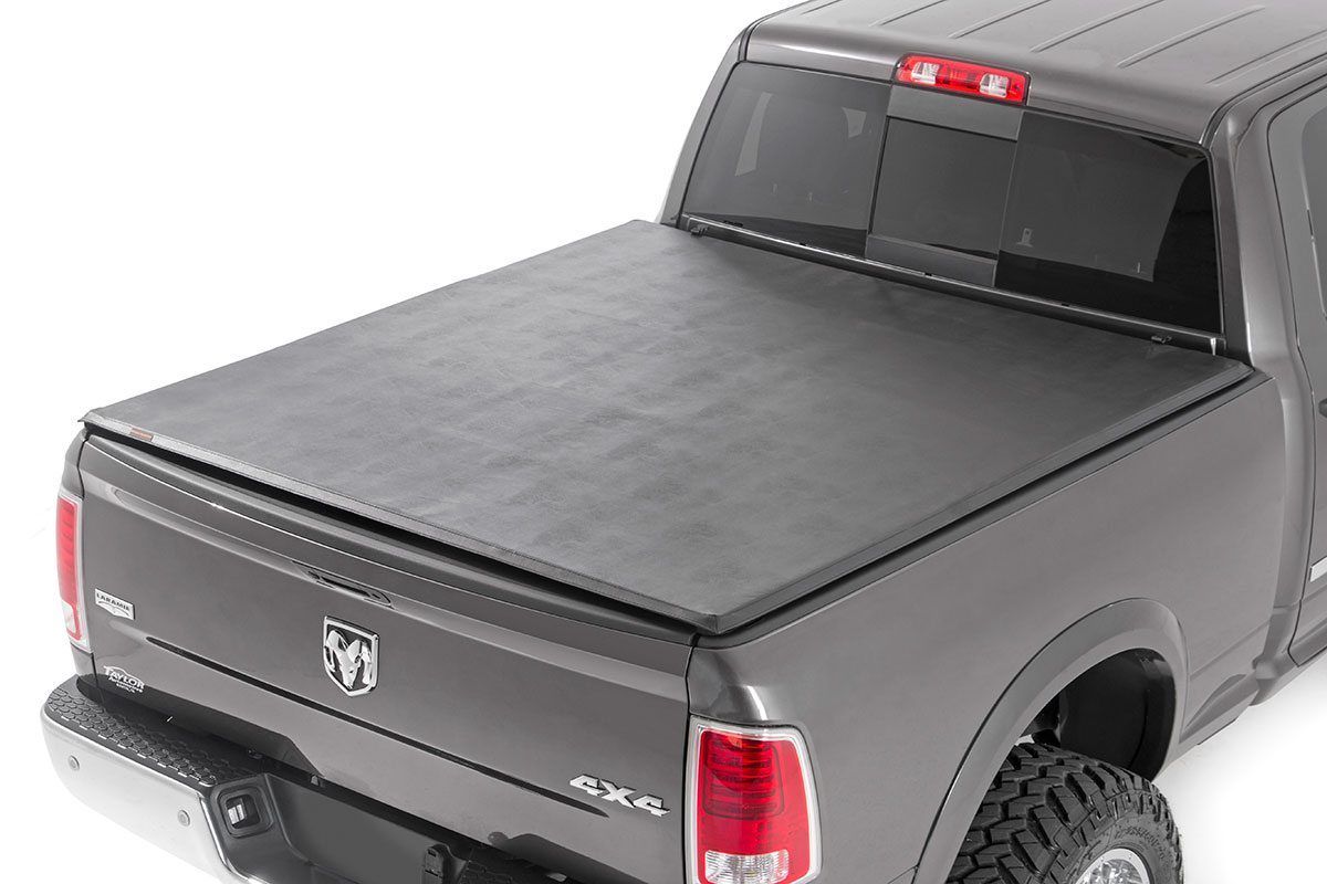 Rough Country Soft Tri-Fold Bed Cover, 5x5 Bed - Ram 1500 2009-18