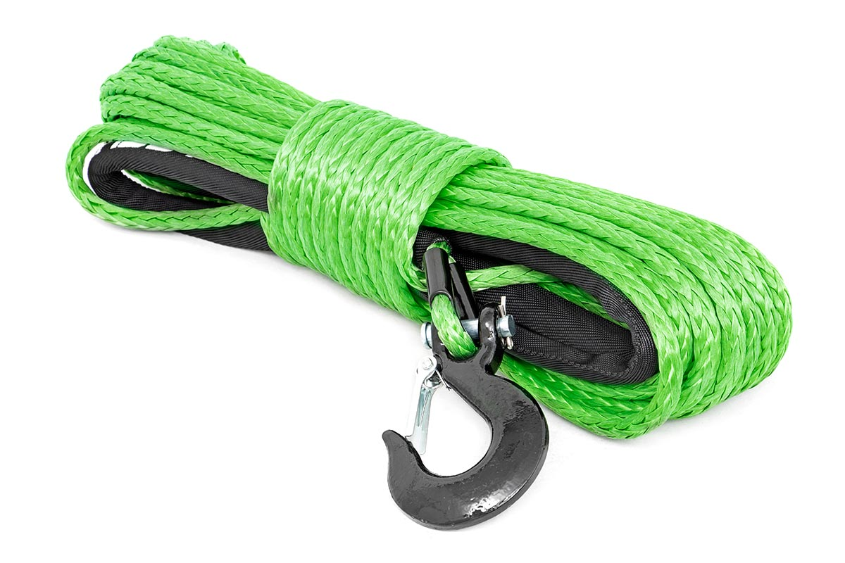 Rough Country Synthetic Winch Rope Green