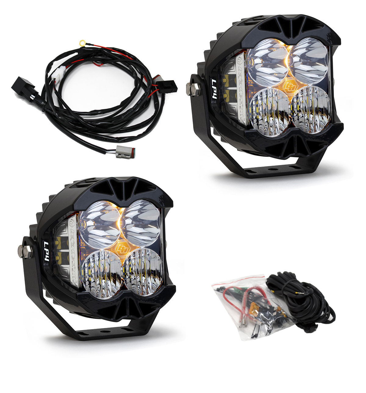 Baja Designs LP4 PRO SERIES WHITE LED DRIVING COMBO LIGHT - PAIR
