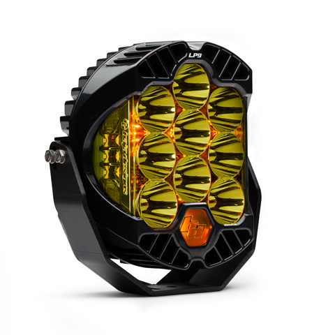 320011 Baja Designs LED Light Pods High Speed Spot Pattern Amber LP9 Series Each