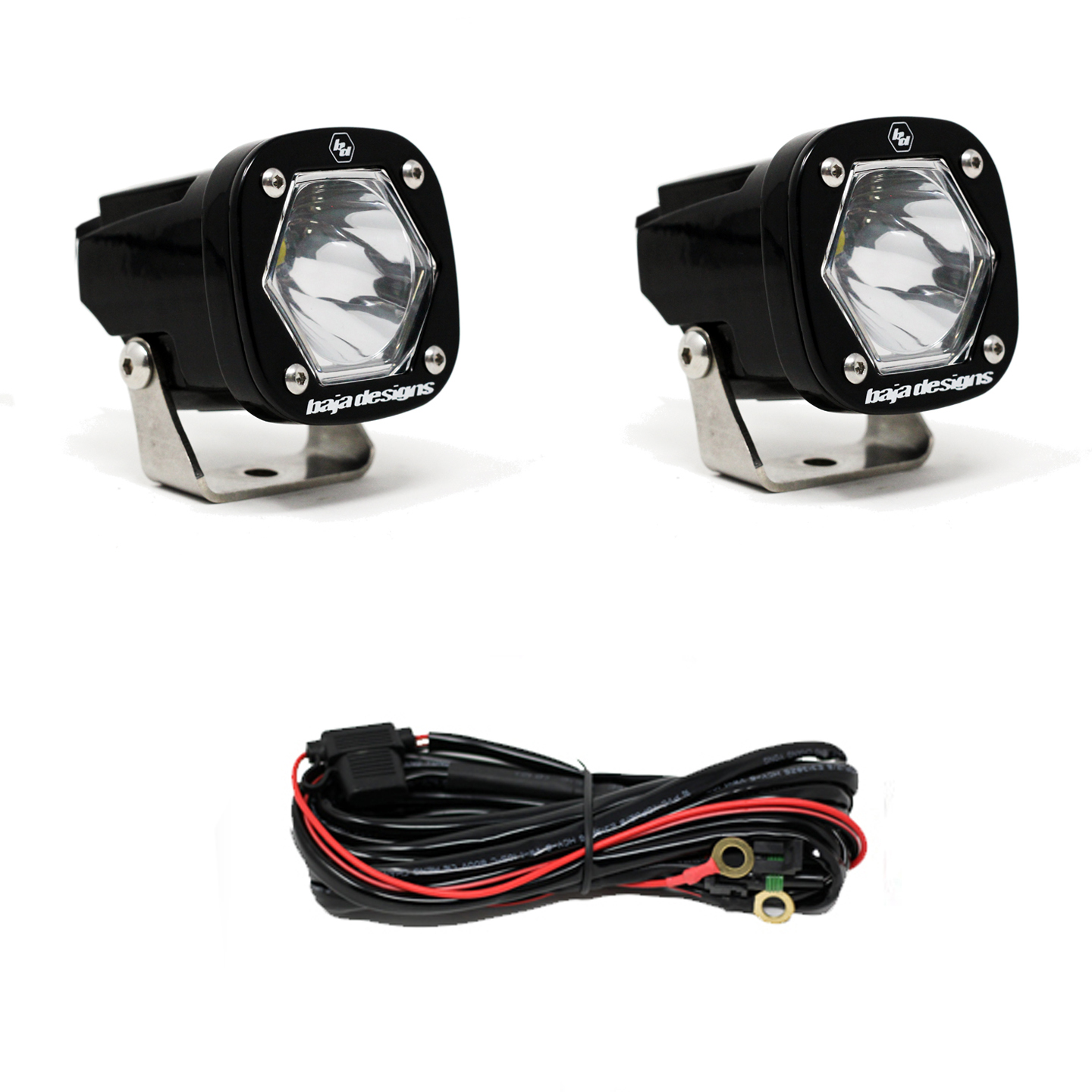 Baja Designs S1 Spot LED Light with Mounting Bracket Pair