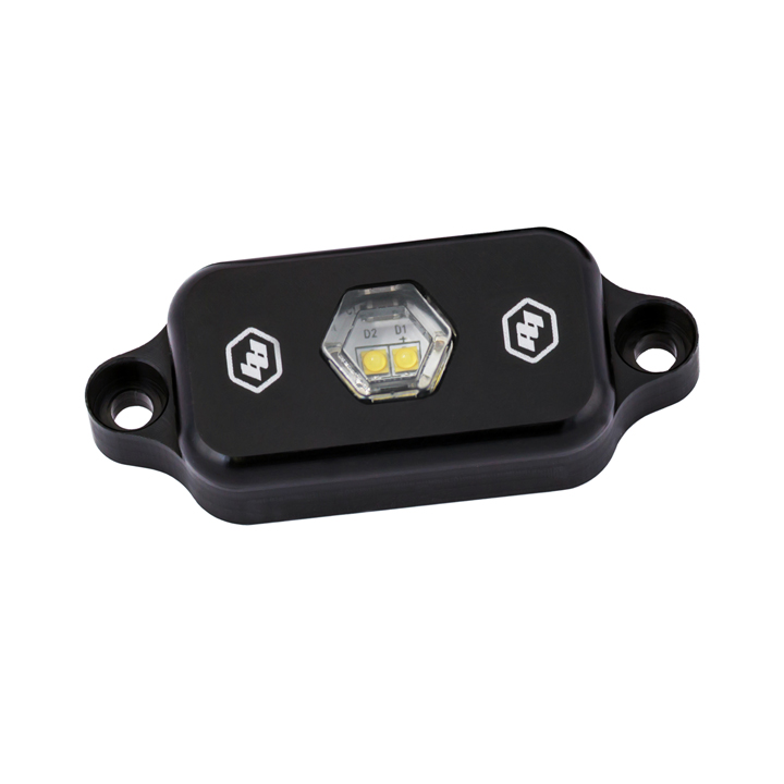398050 Baja Designs LED Rock Light Clear Each Black