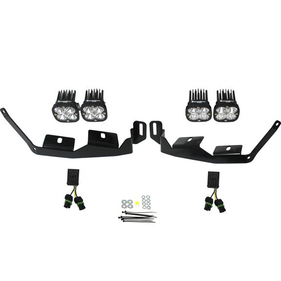 447012 Baja Designs Polaris Headlight Kit 2014-Present RZR XP1000/RS1 Sportsmen Kit Black