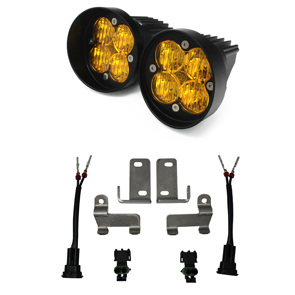 447115 Baja Designs Toyota LED Light Kit Amber Lens Tacoma/Tundra/4Runner Squadron Sport WC Black