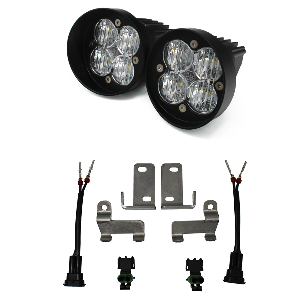 447125 Baja Designs Toyota LED Light Kit Clear Lens Tacoma/Tundra/4Runner Squadron Sport WC Black