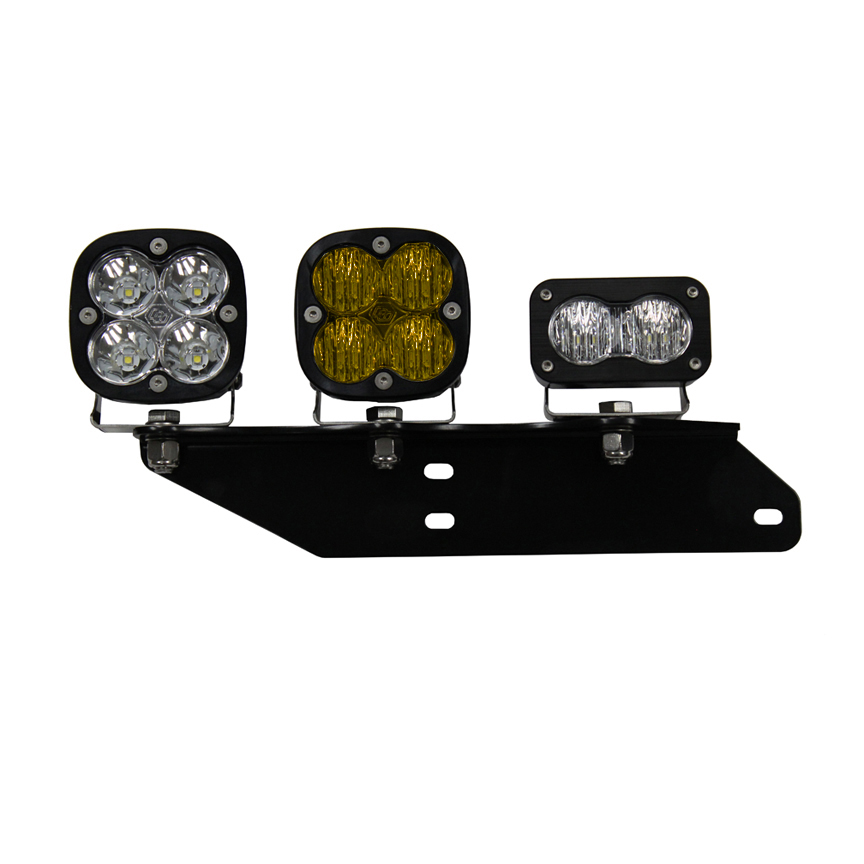 Baja Designs Raptor Fog Light Kit 17-18 F-150 Raptor Fog Pocket Kit Amber SAE Sportsmen