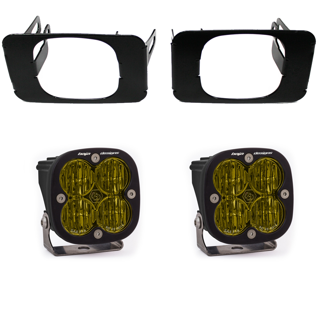 Baja Designs Super Duty Fog Lights SAE Amber FPK 17-18 F-150