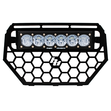 457543 Baja Designs Polaris RZR Grille and OnX6 LED Light Bar Kit 14-15 Kit Black