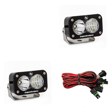 487803 Baja Designs LED Light Pods Driving Combo Pattern Pair S2 Pro Series Pair Black