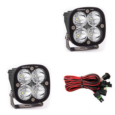 497801 Baja Designs LED Light Pods Spot Pattern Pair Squadron Pro Series Pair Black