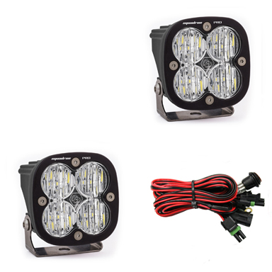 497805 Baja Designs LED Light Pods Wide Cornering Pattern Pair Squadron Pro Series Pair Black