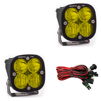 497813 Baja Designs Squadron Pro LED Light Pods Amber Driving / Combo Pattern Pair Black